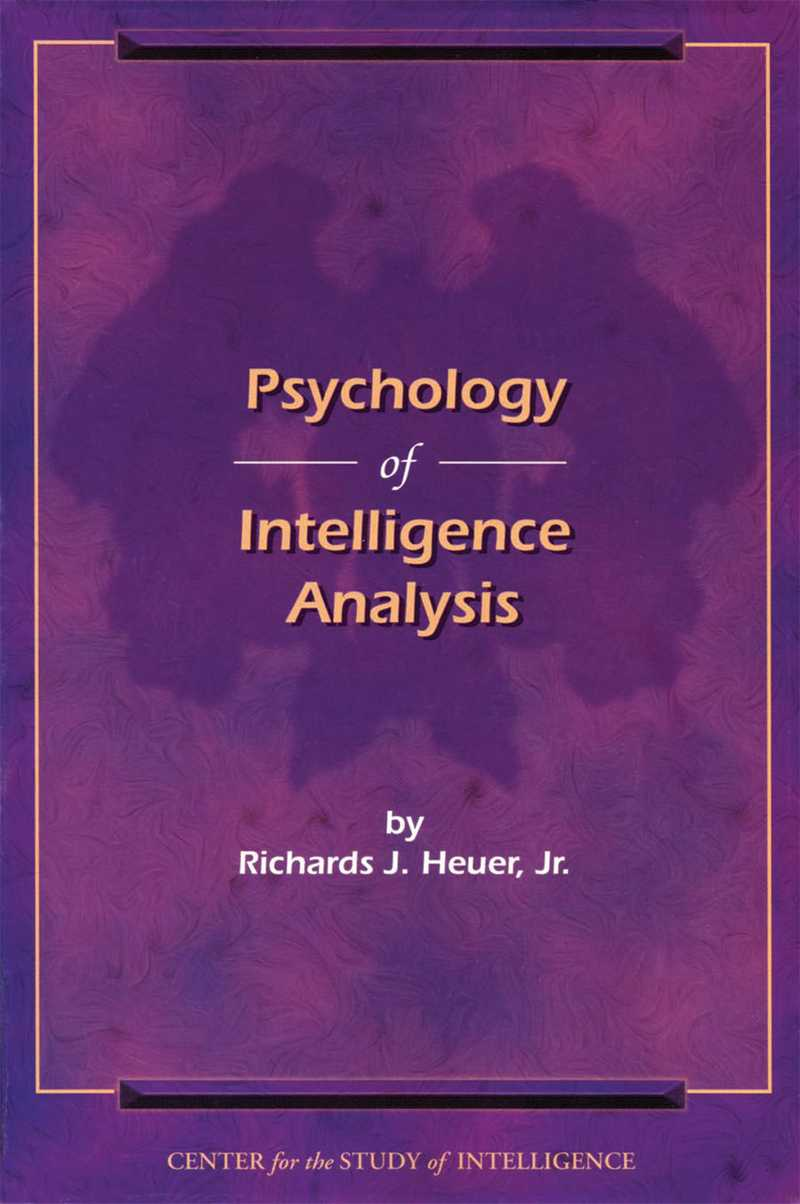 Cover of Psychology of Intelligence Analysis document