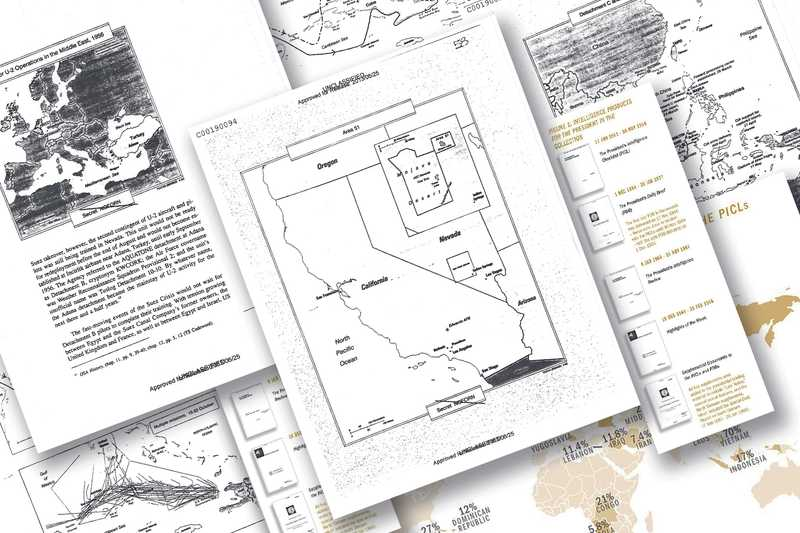 Images of pages from various CSI articles stacked on top of each other.