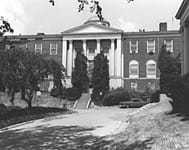 Black and white image of the Office of Strategic Services building.