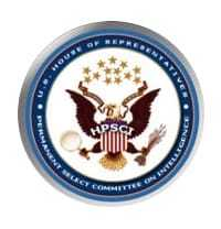 Seal for the US House of Representatives Permanent Select Committee on Intelligence.