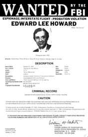 Wanted by the FBI poster of Edward Lee Howard.