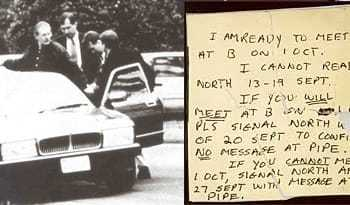 Written note from Aldrich Ames, who was arrested for spying for Russia.
