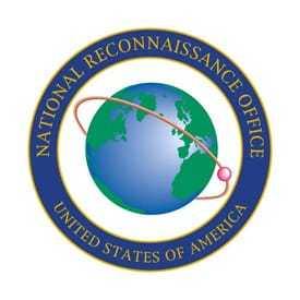 Logo for the National Reconnaissance Office featuring a globe.