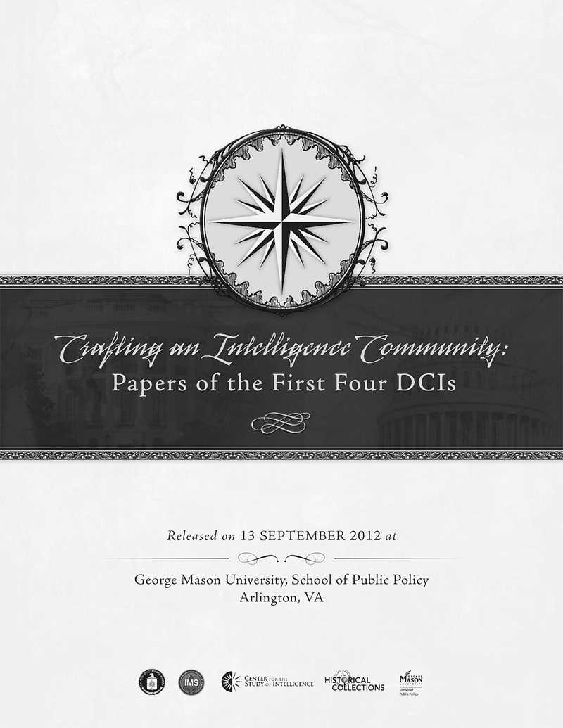 The cover of the article: Intelligence, Policy, and Politics: The DCI, the White House, and Congress.