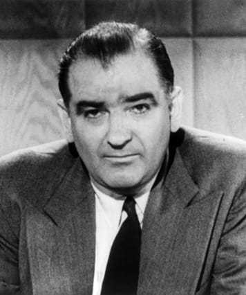 Black and white headshot of Senator McCarthy.