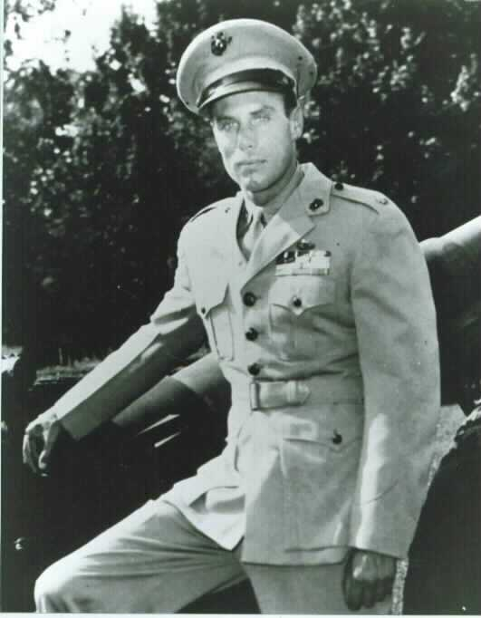A black and white photo of Peter Ortiz in a military uniform.