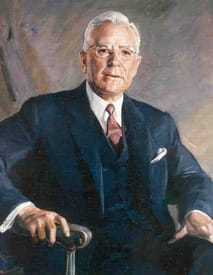 Painted portrait of Former DCI John A McCone.