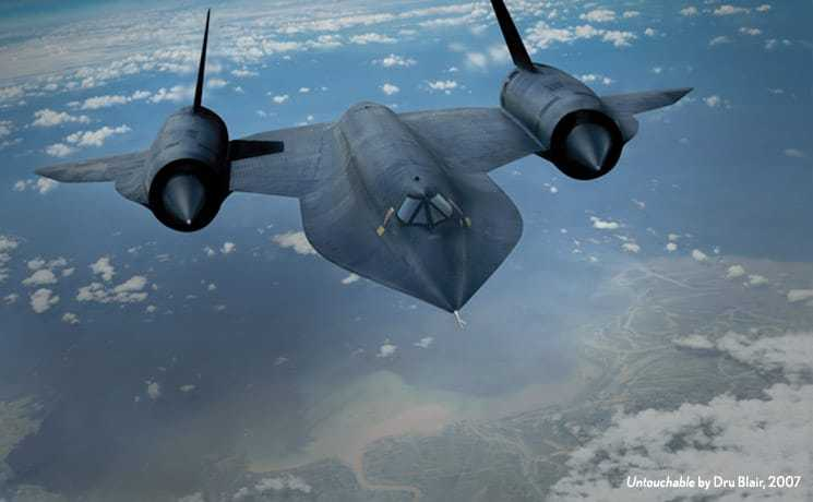 Image of the A-12 plane.