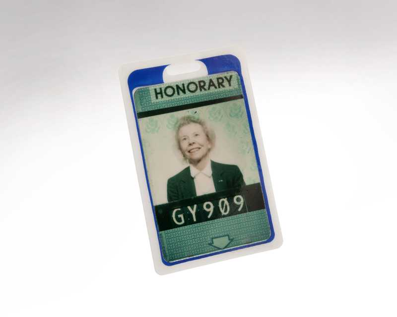 Eloise R. Page's  ID badge.