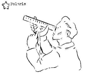 Graphic of a man looking through a navigation device.